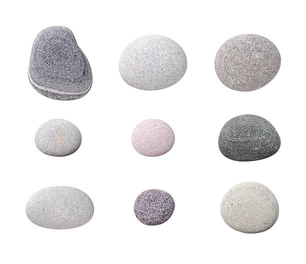 """Assorted Pebbles """"Assorted pebbles, isolated on white background."""" stone object stock pictures, royalty-free photos & images"""