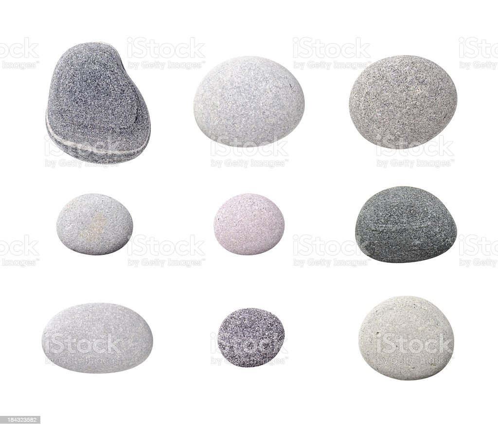 Assorted Pebbles stock photo