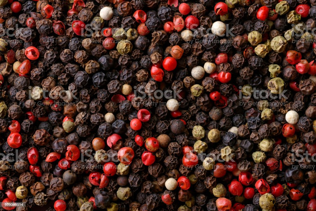 Assorted pepper corns royalty-free stock photo