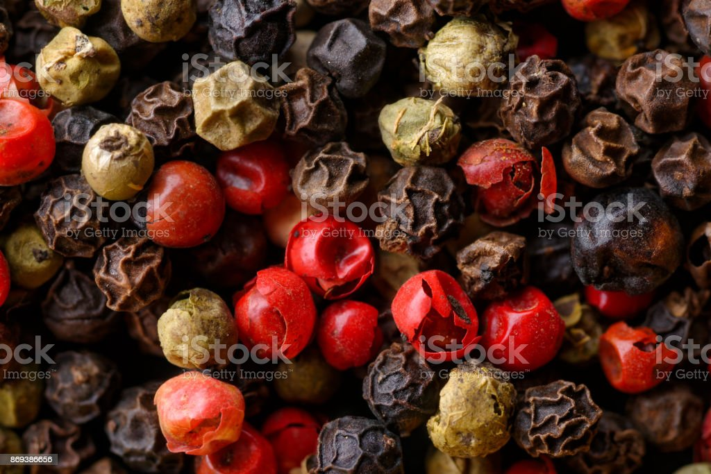 Assorted pepper corns stock photo