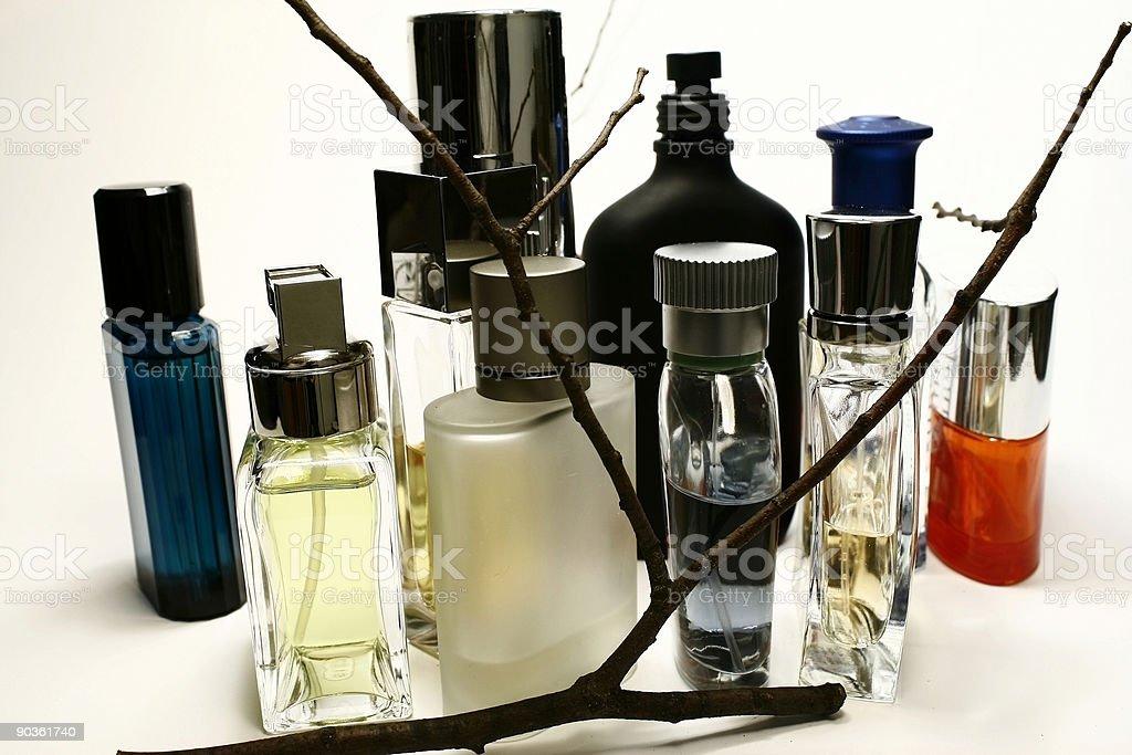Assorted Perfume Bottles stock photo