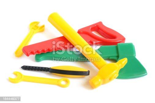 istock Assorted plastic toy tools 154446377