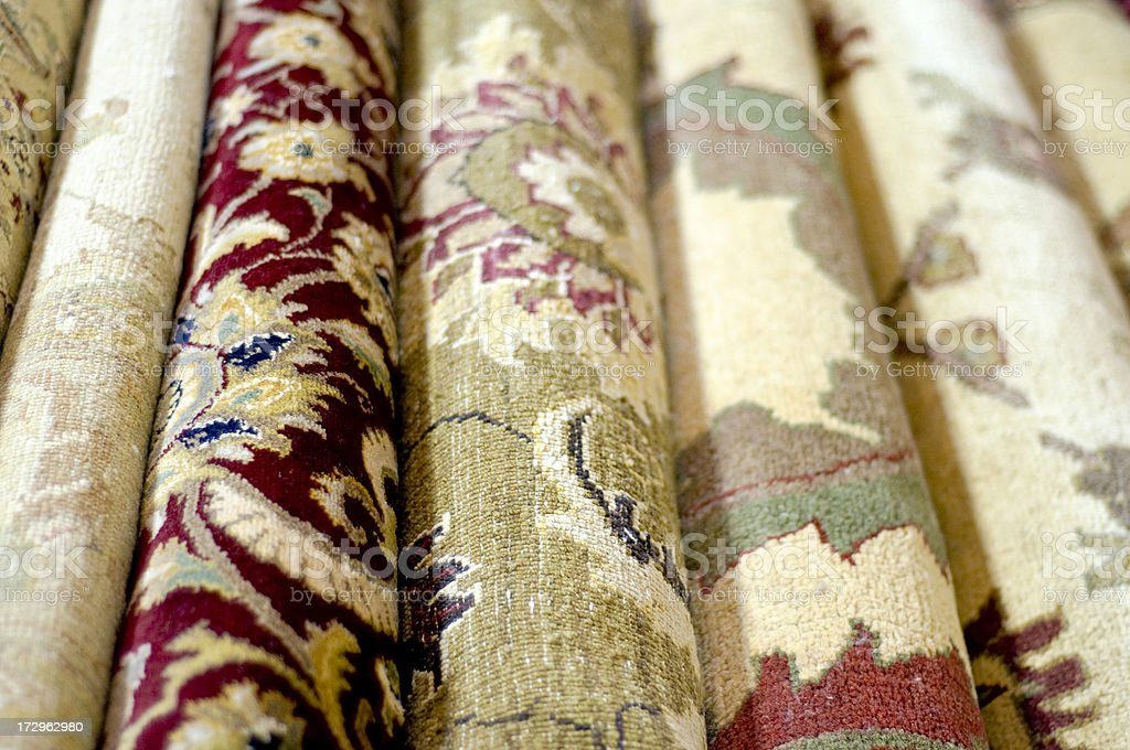Assorted Rugs royalty-free stock photo