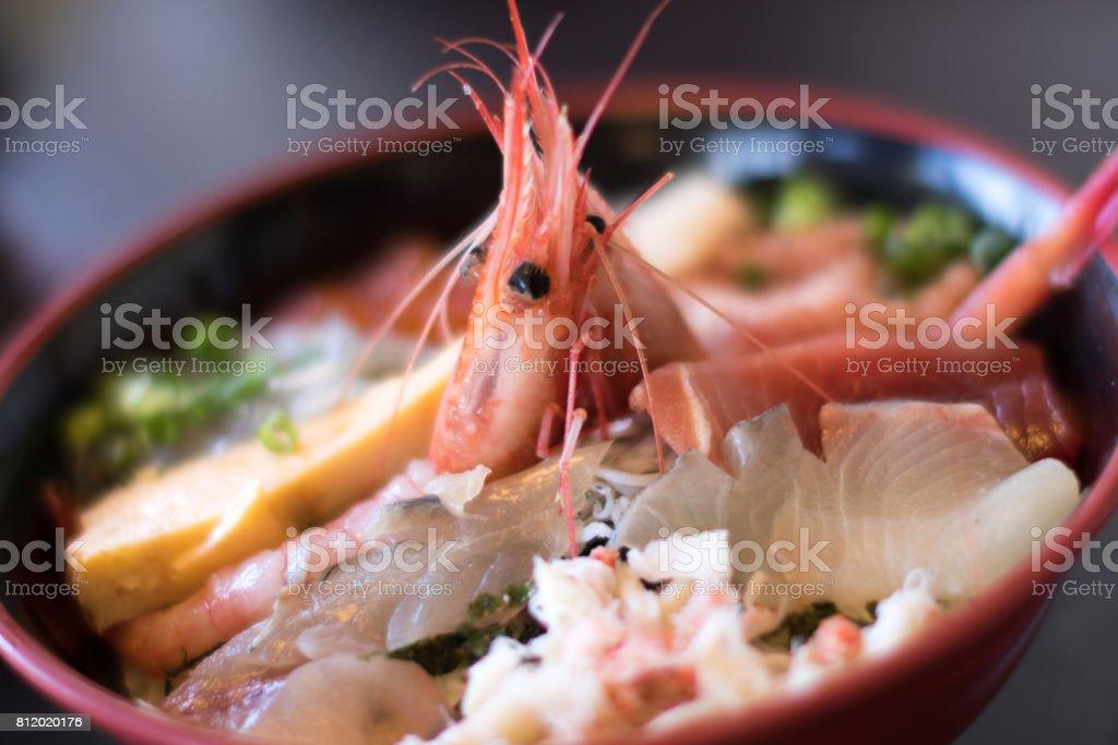 海鮮丼。 ストックフォト