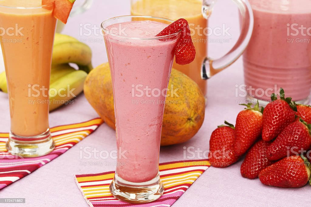 Assorted smoothies royalty-free stock photo