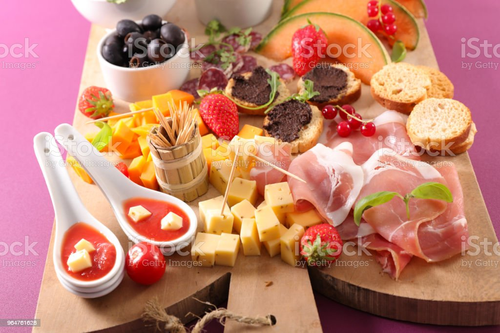 assorted snack, buffet food royalty-free stock photo