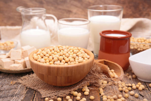 assorted soy product stock photo