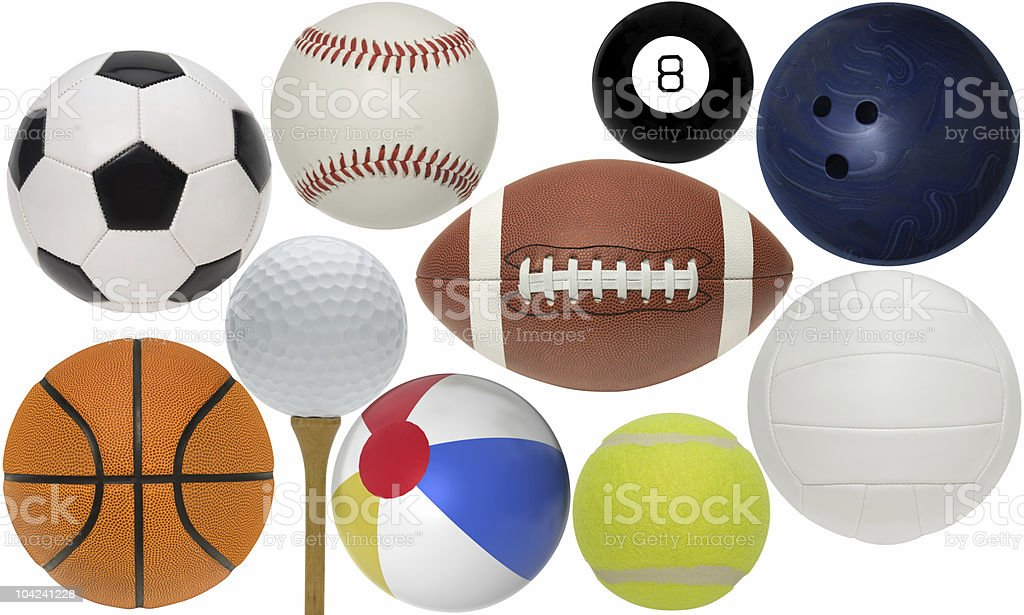 Assorted Sport Ball Collection royalty-free stock photo