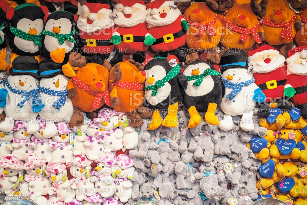 Assorted Stuffed Toys On Display Awarded As Wining Prizes At The