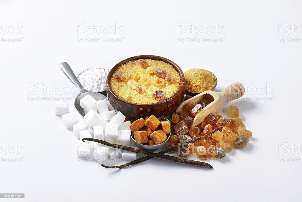 assorted sugar royalty-free stock photo