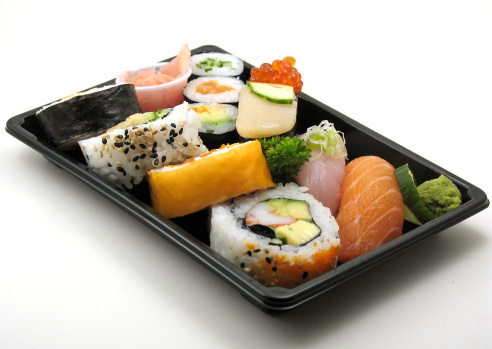 istock Assorted sushi lunch 140466895