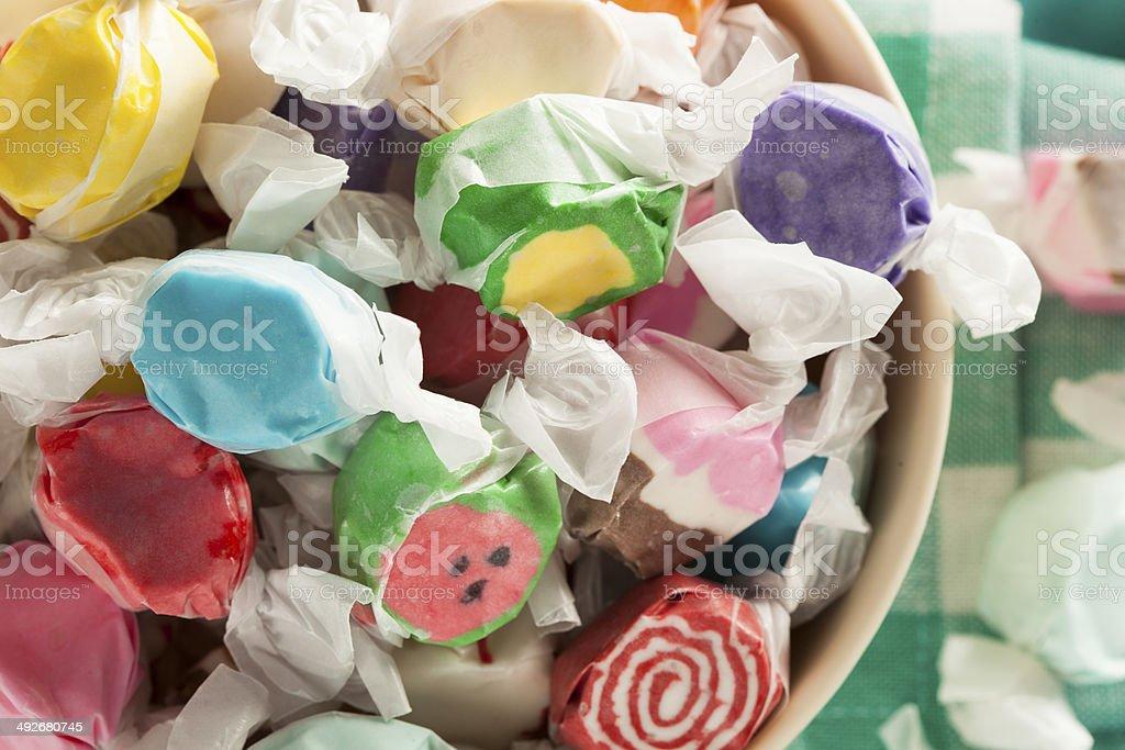 Assorted Sweet Saltwater Taffy stock photo