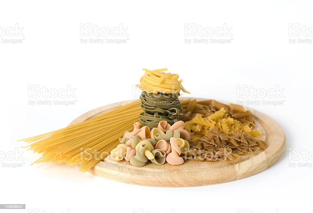 Assorted  uncooked pasta royalty-free stock photo