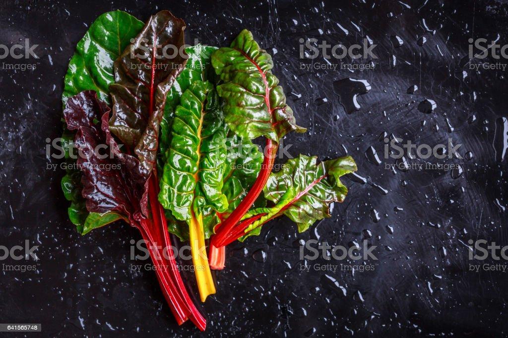Surtido variedades de acelga - foto de stock