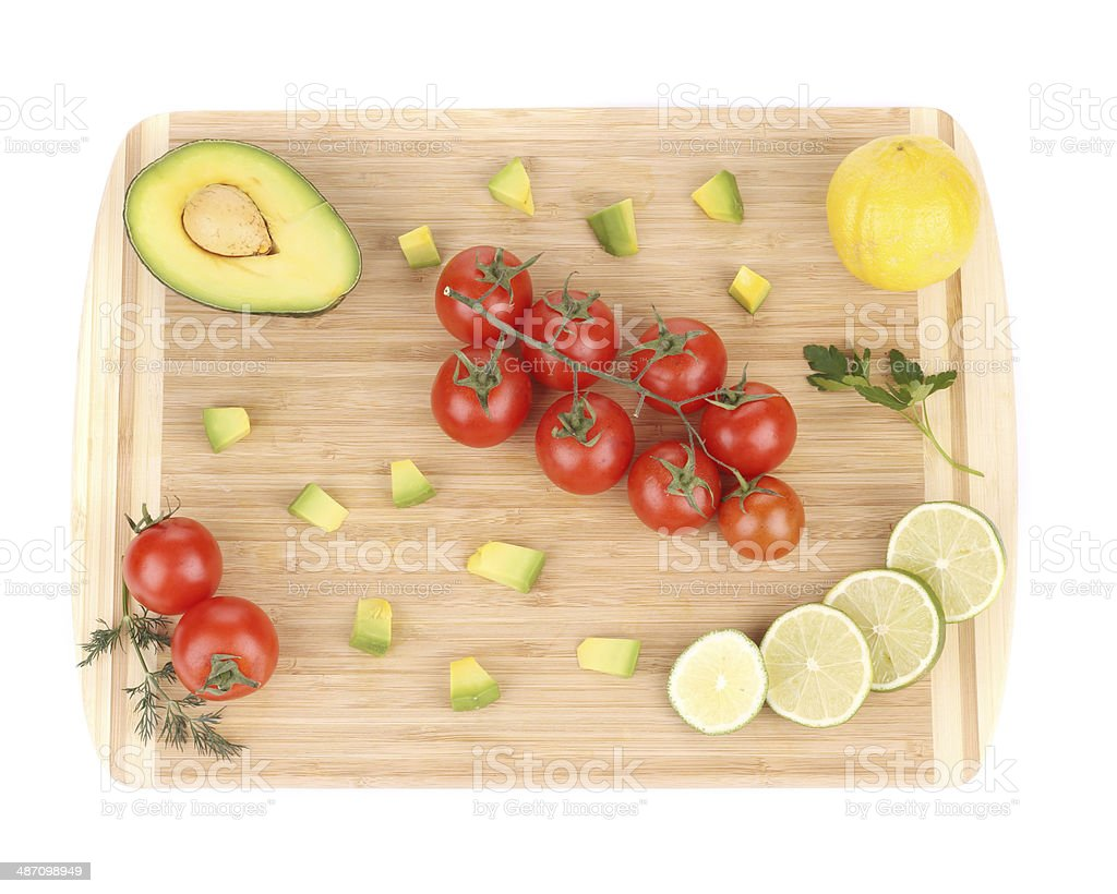 Assorted vegetables and fruits. royalty-free stock photo