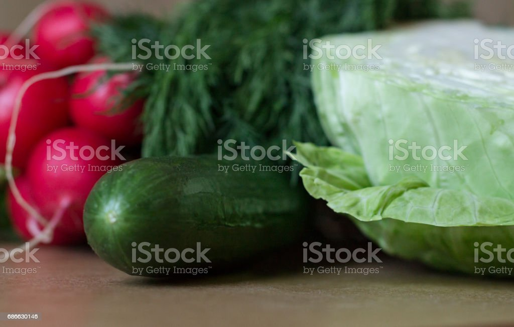 Assorted Vegetables on the Table royalty-free stock photo
