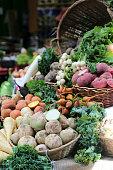 Assorted vegetables on farmers market