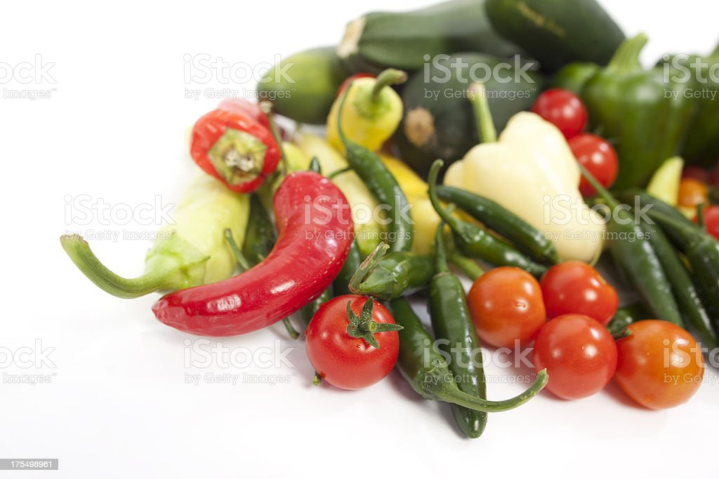 Assorted Veggies and Peppers. stock photo