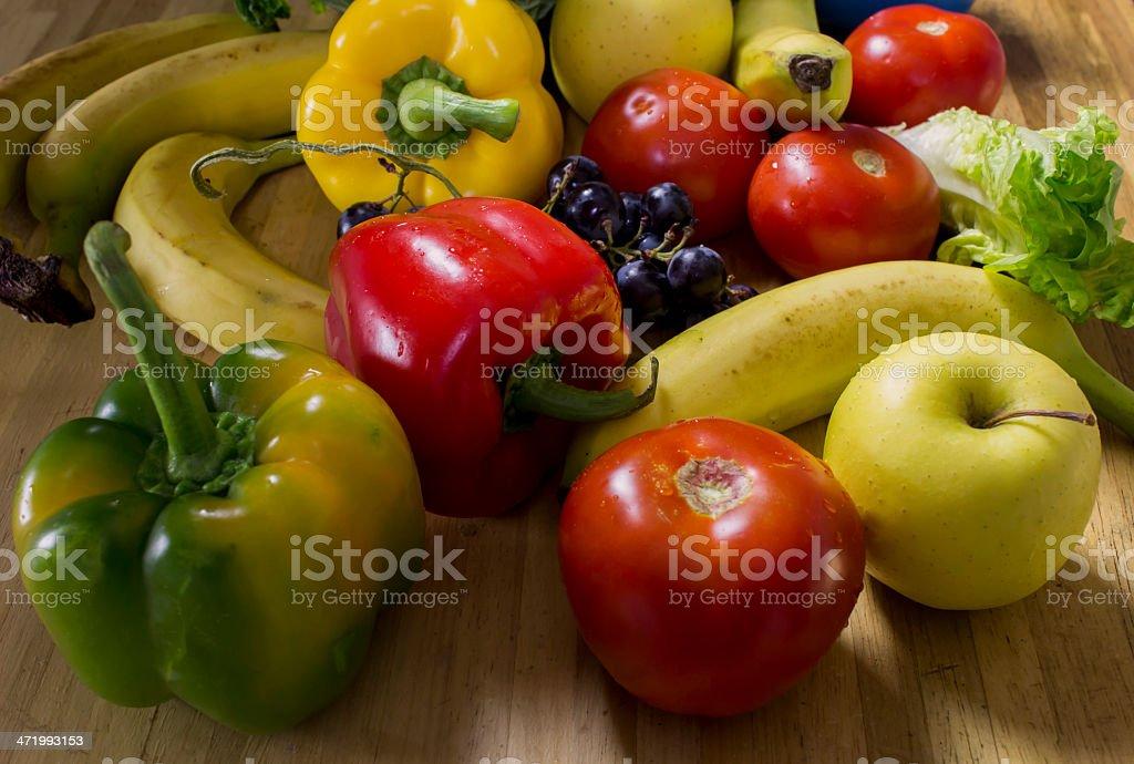 Assortiment de fruits et légumes stock photo