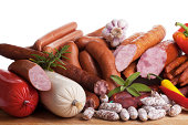 assortiment of sausages