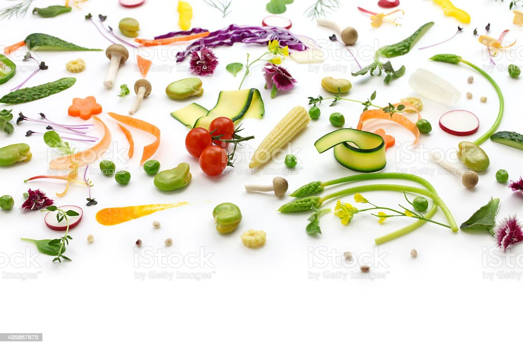 assortment fresh vegetables stock photo