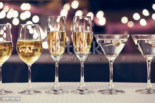 istock Assortment of alcoholic drinks 528719178