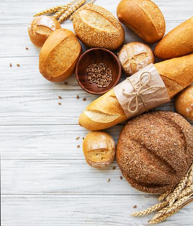 istock Assortment of baked bread 1151941498