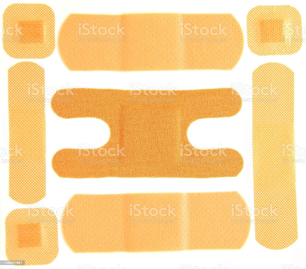 Assortment of Band Aids stock photo