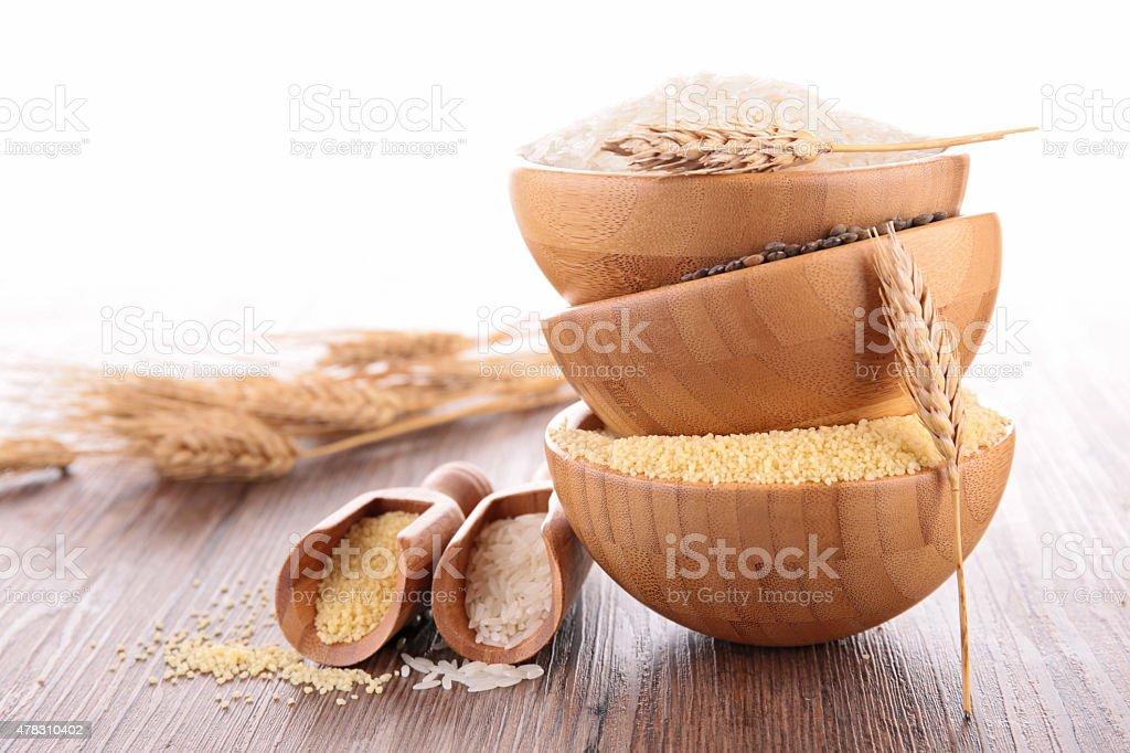 assortment of cereals stock photo