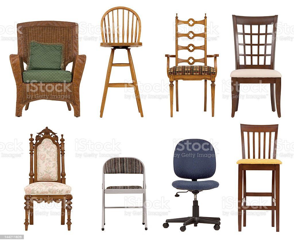 Assortment of chairs royalty-free stock photo