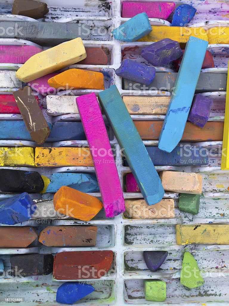 Assortment of chalk sticks royalty-free stock photo