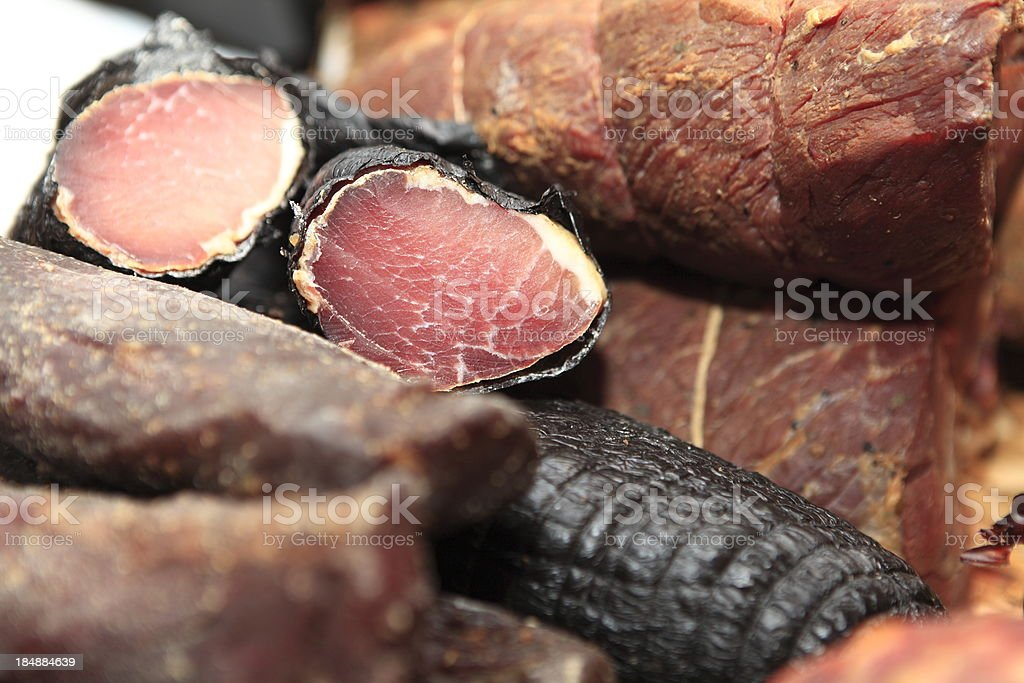 Assortment of cold meats XXXL royalty-free stock photo