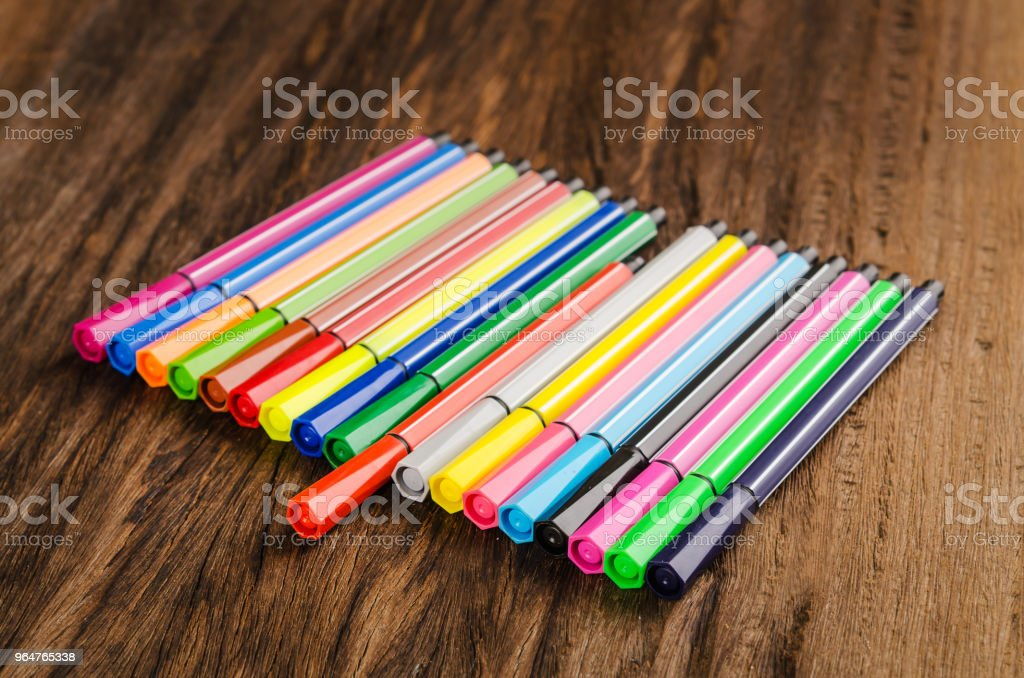 Assortment of colored pencils/Colored Drawing Pencils/Colored drawing pencils in a variety of colors royalty-free stock photo