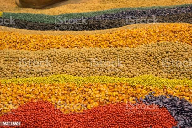 Asortyment Kolorowych Ziaren I Zbóż - zdjęcia stockowe i więcej obrazów Fotografika