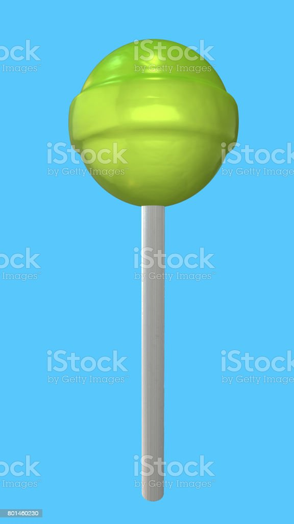 Assortment of colorful lollipops with clipping path stock photo