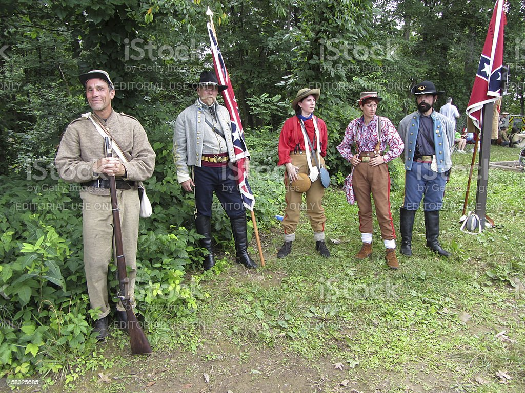 Assortment of Confederate Soldiers royalty-free stock photo