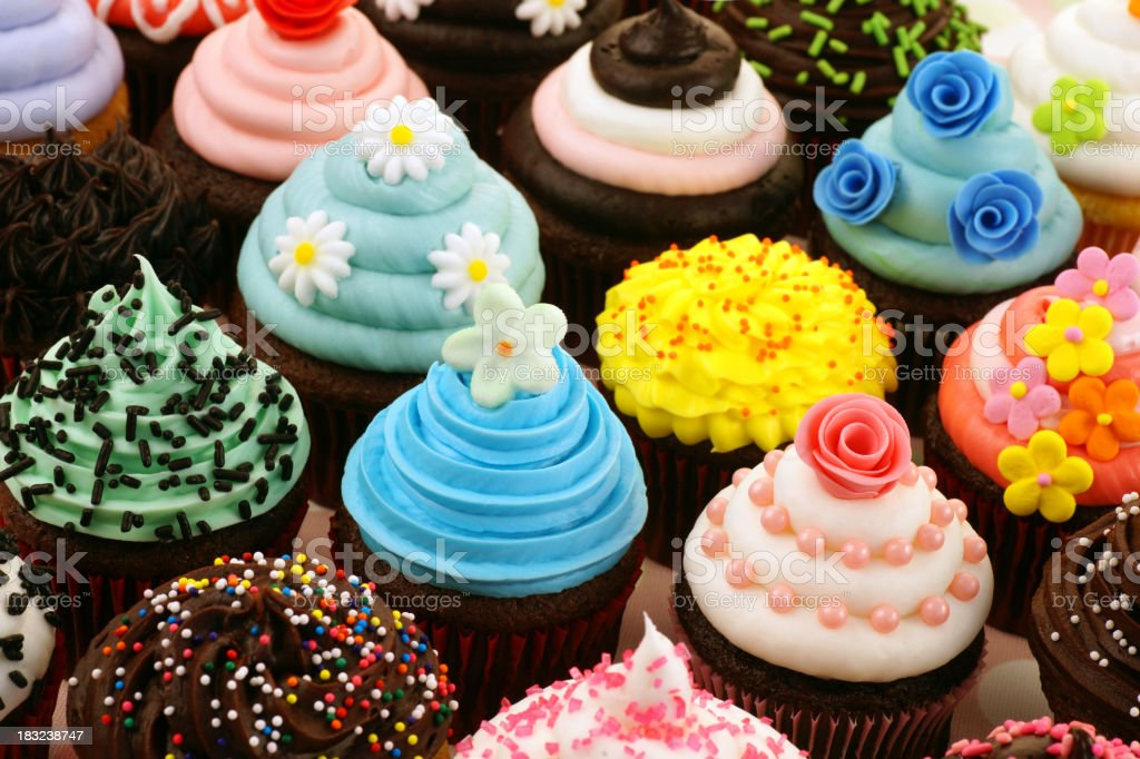 Assortment of Cupcakes stock photo