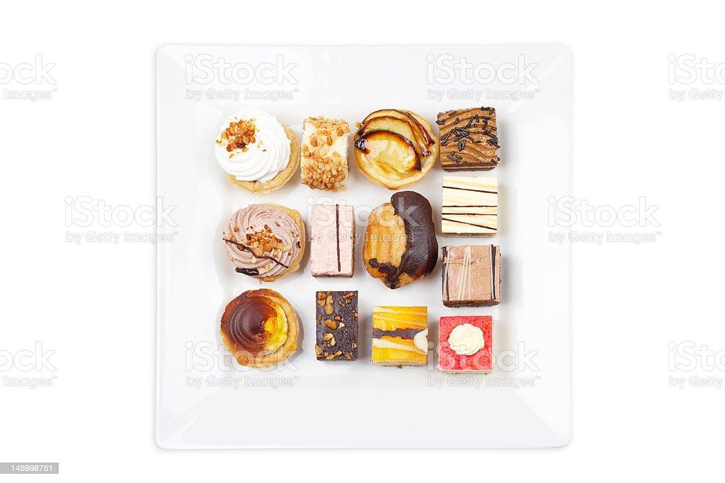 Assortment of delicious cakes stock photo