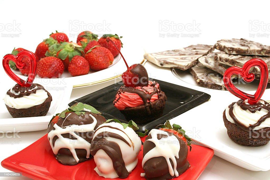 assortment of desserts royalty-free stock photo