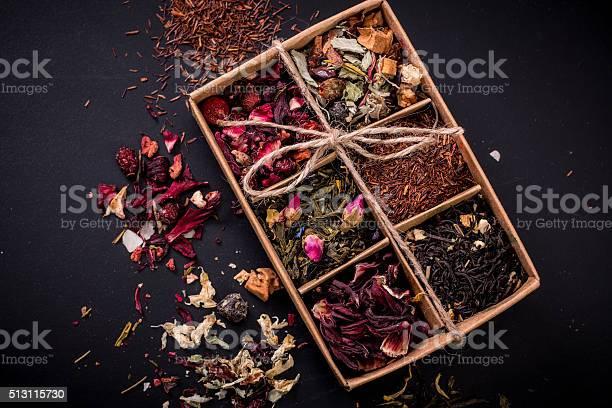 Assortment of dry tea on a wooden tablehealthy drink picture id513115730?b=1&k=6&m=513115730&s=612x612&h=ecvcdq8ggjxkuu0w9shvqgubtlux6gmzbgaezbcdplw=