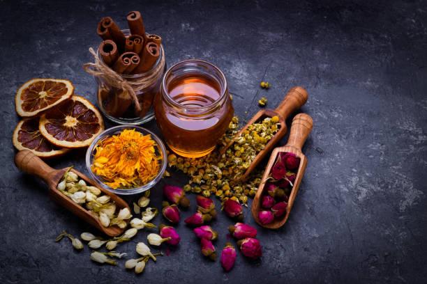 Sortiment von trockenen Tee – Foto