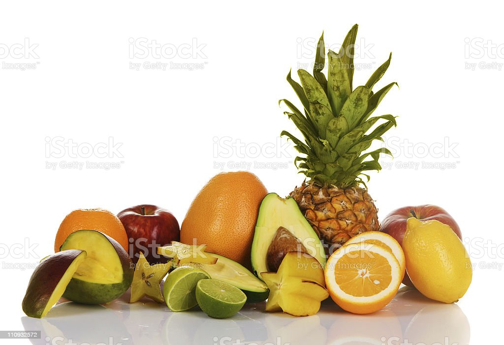 Assortment of exotic fruits royalty-free stock photo