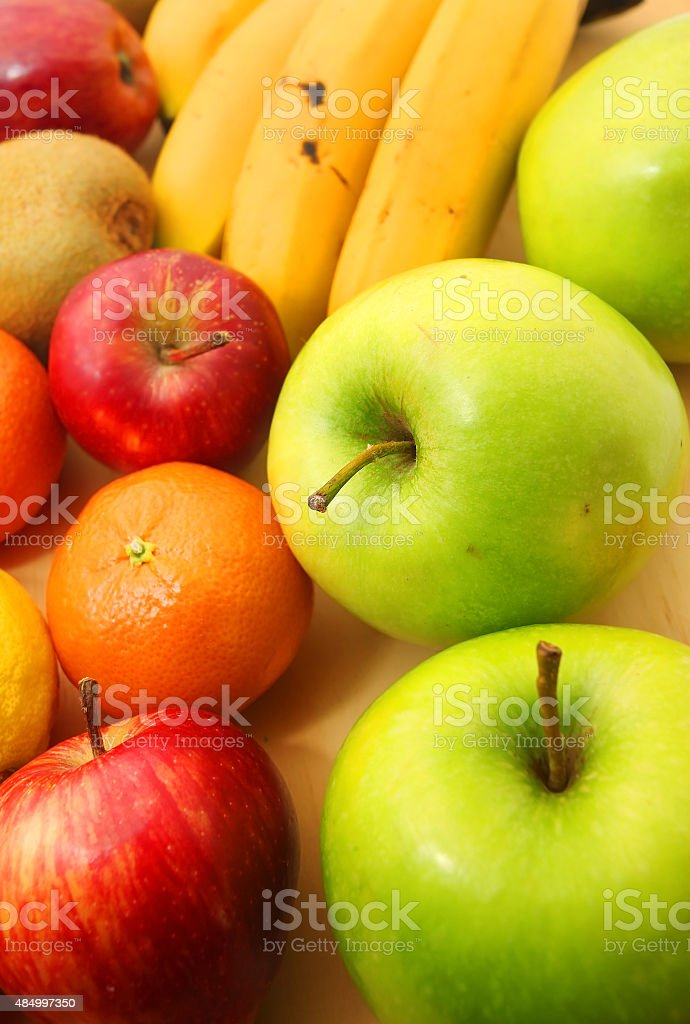 Assortment of exotic fruits stock photo