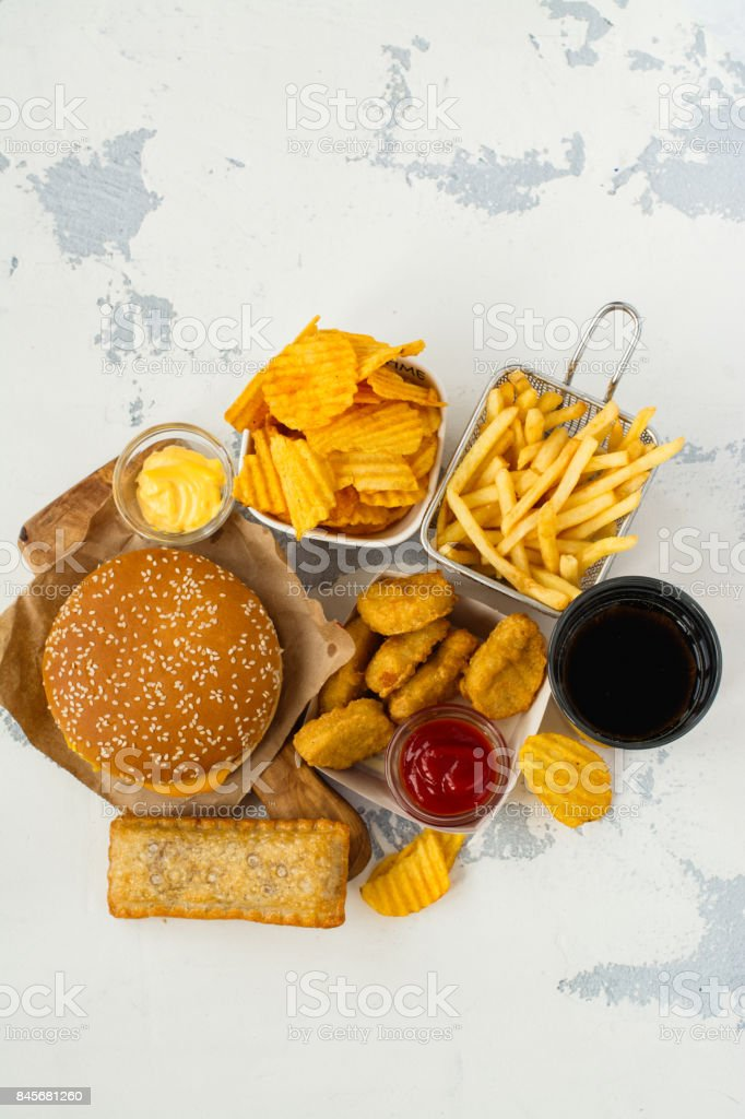 Assortment Of Fast Food Stock Photo More Pictures Of Addiction
