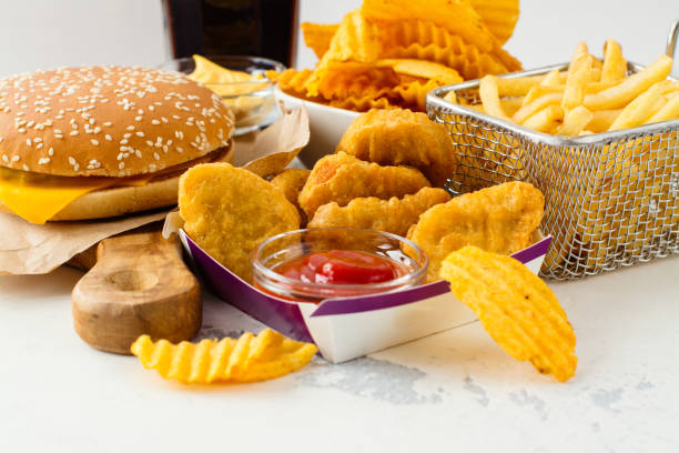 Assortment of fast food stock photo