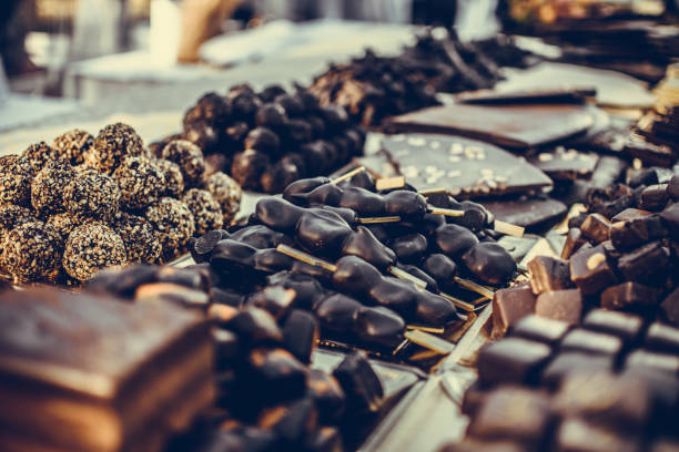 Assortment of Fine Chocolate Candies Assortment of Fine Chocolate Candies swiss culture stock pictures, royalty-free photos & images