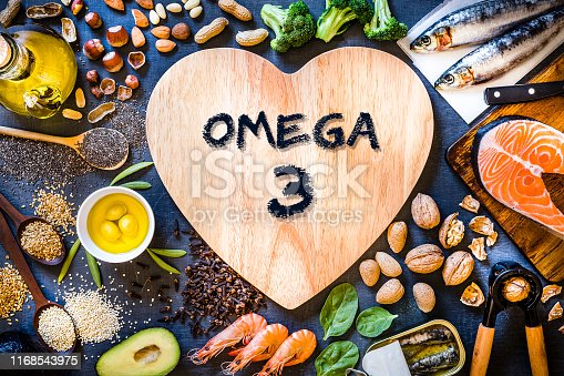 istock Assortment of food rich in omega-3 1168543975