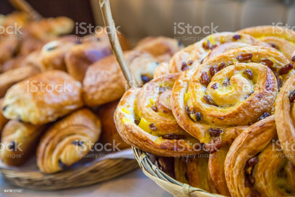 assortment of french pastries stock photo
