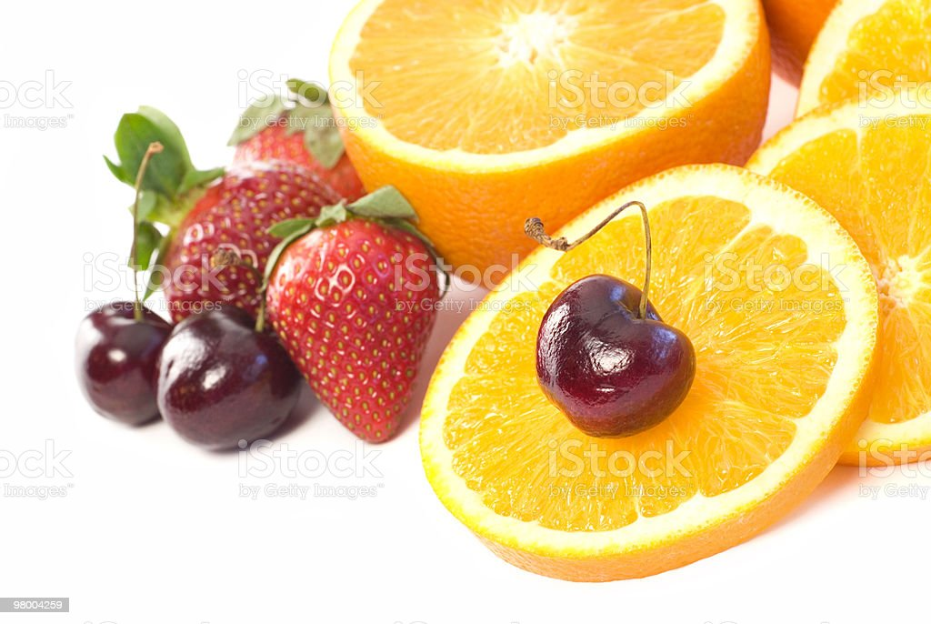 Assortment of fresh fruit copy space royalty-free stock photo