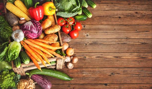 Assortment of fresh vegetables stock photo
